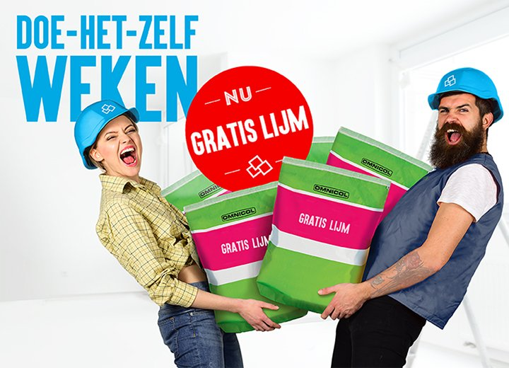 Laatste weken 'Doe-Het-Zelf Deals' mét GRATIS lijm!