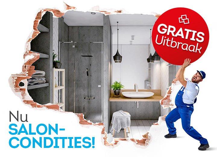 Profiteer nu van uitzonderlijke SALONCONDITIES voor uw nieuwe badkamer!
