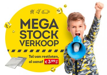 Scoor nu tal van SUPERDEALS met onze MEGA STOCKVERKOOP!